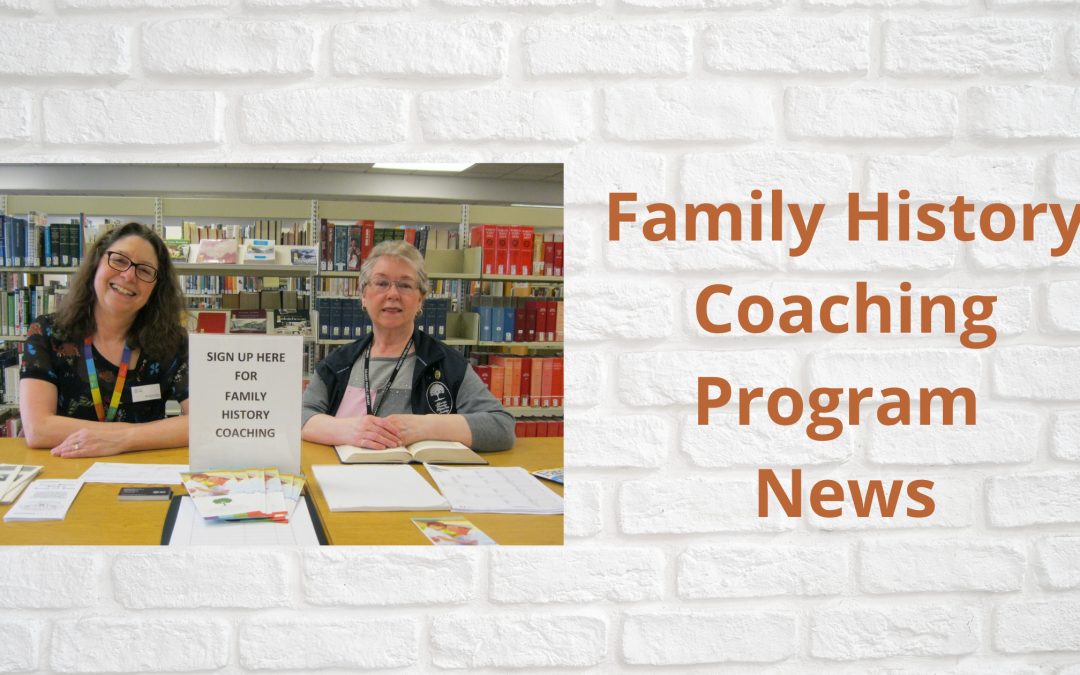 Family History Coaching at now virtual